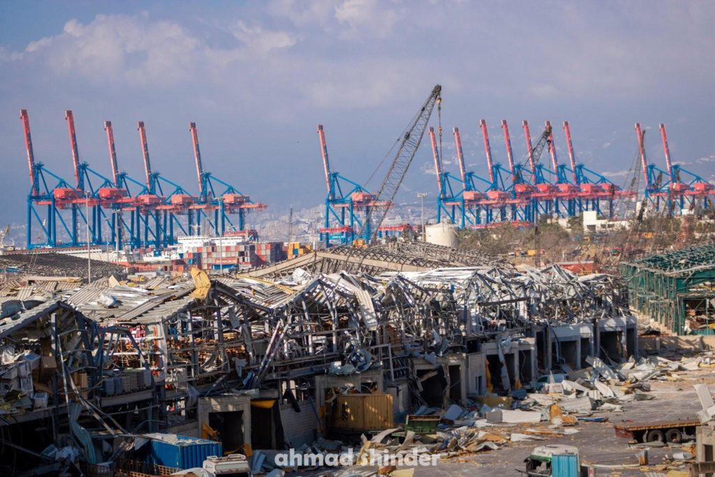Port of Beirut after blast